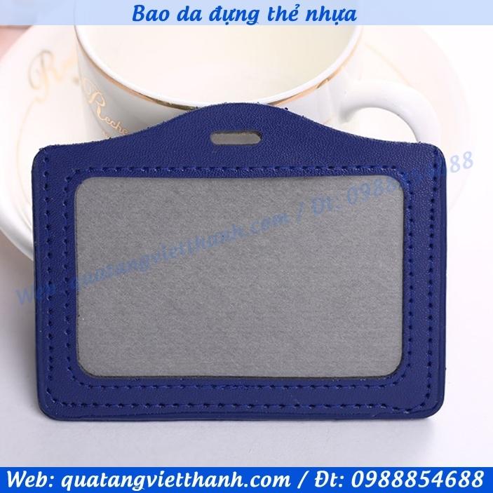 Bao đựng thẻ 2 - ngang xanh