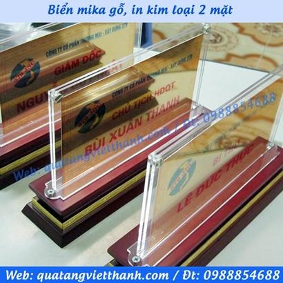 Biển mica gỗ 01