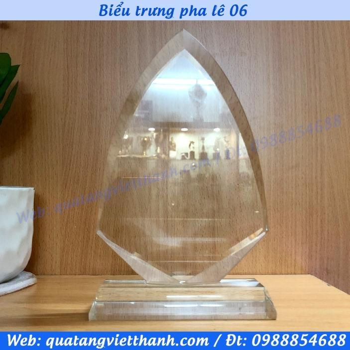 Biểu trưng pha lê giọt nước 06