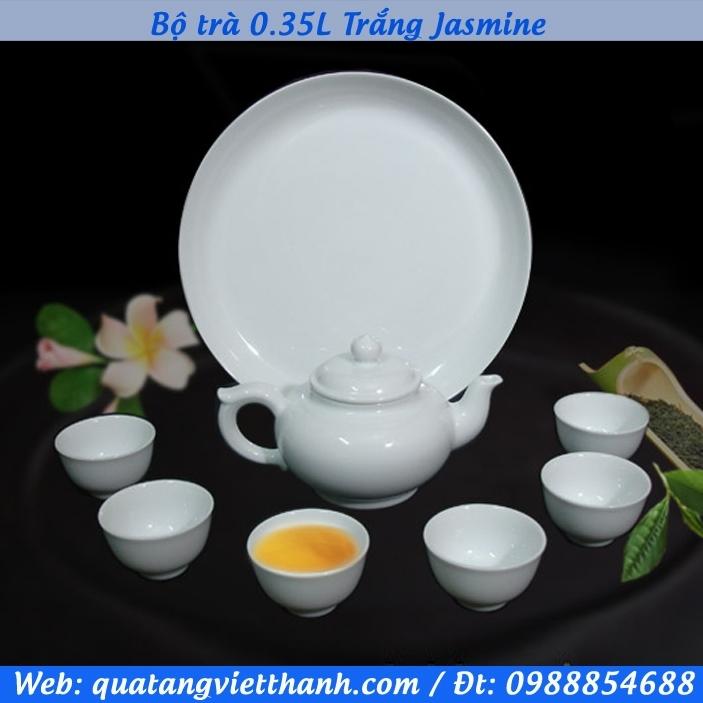 Bộ trà 0.35L Trắng Jasmine