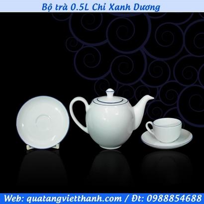 Bộ trà 0.5L Chỉ Xanh Dương