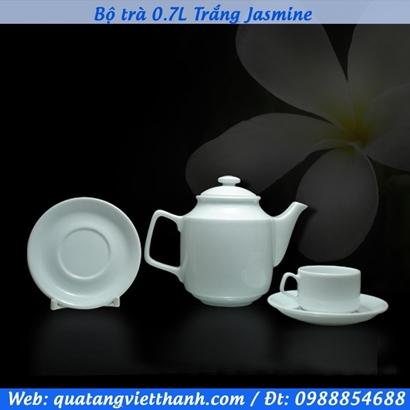 Bộ trà 0.7L Trắng Jasmine