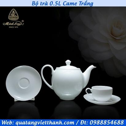 Bộ trà Minh Long 0.5L Came Trắng