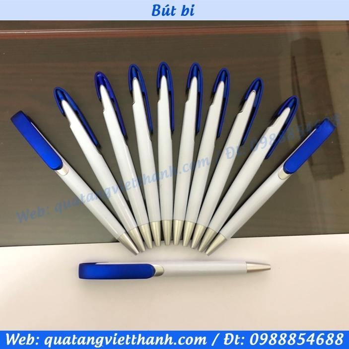Bút bi VT1 trắng - xanh
