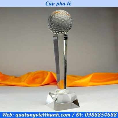 Cúp pha lê quả golf