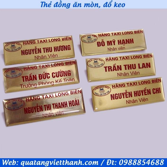 Thẻ đồng Taxi Long Biên