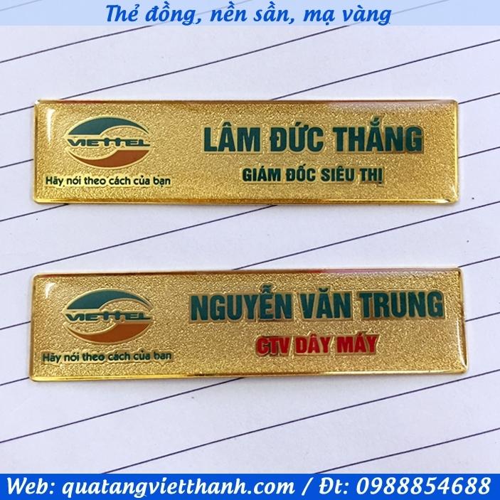 Thẻ đồng mạ vàng Viettel