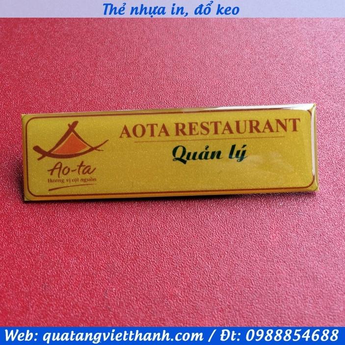 Thẻ nhựa Ao Ta