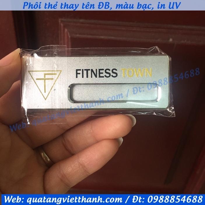 Thẻ thay tên DB fitness