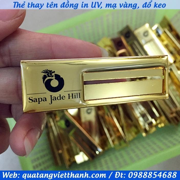 Thẻ thay tên đồng Sapa