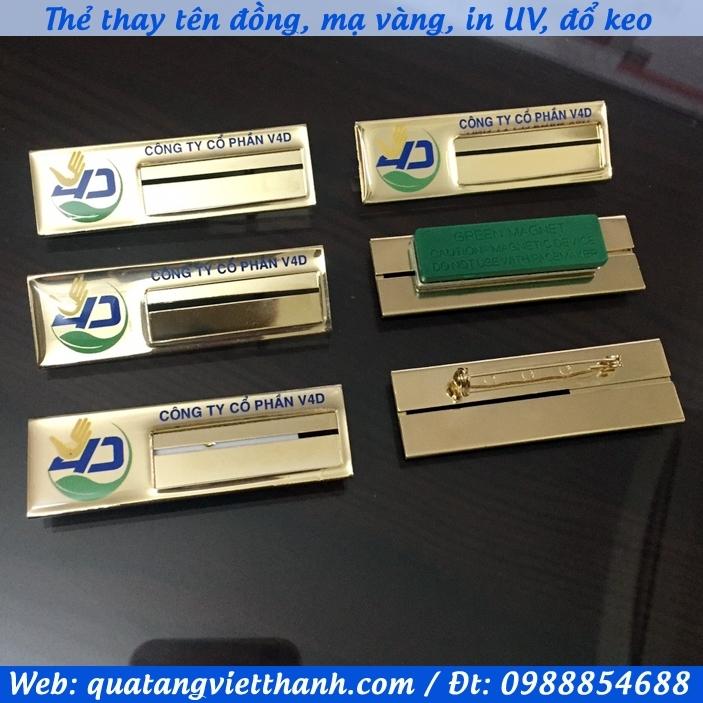 Thẻ thay tên đồng V4D