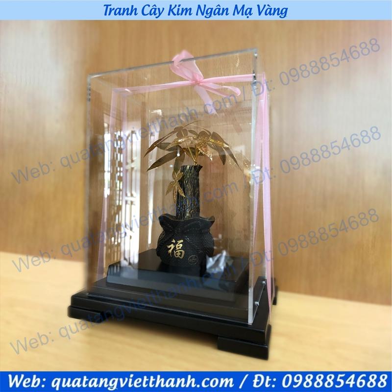 Tranh cây Kim Ngân mạ vàng 24k